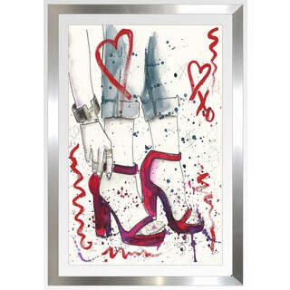 "BY Jodi ""Red Shoes"" Framed Plexiglass Wall Art"