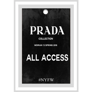 "BY Jodi ""Prada All Access"" Framed Plexiglass Wall Art"