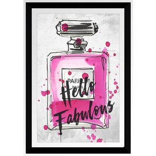 "BY Jodi ""Pink Perfum Bottle"" Framed Plexiglass Wall Art"