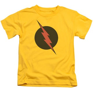JLA/Reverse Flash Short Sleeve Juvenile Graphic T-Shirt in Yellow