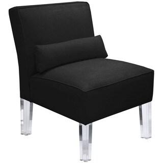 Skyline Furniture Duck Black Armless Chair With Acrylic Legs