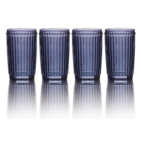 Mikasa Italian Countryside Blue Highball Glasses (Set of 4)