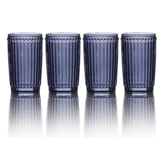Mikasa Italian Countryside Blue Highball Glasses (Set of 4)