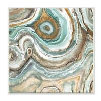 'Aqua Geode Stone' Plaque Wall Art