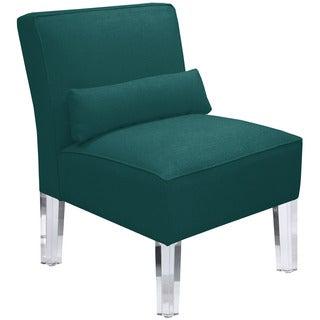 Skyline Furniture Duck Peacock Cotton/Acrylic Legs Armless Chair