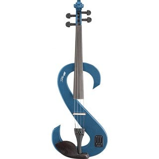 Stagg Metallic Blue Silent Viola Set with Soft Case and Headphones