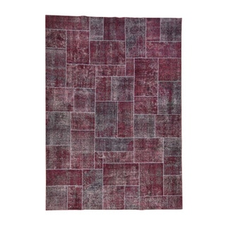 1800GetaRug Multicolor Wool Persian Overdyed Patchwork Hand-knotted Rug (9'1 x 12'10)