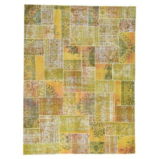 1800GetaRug Persian Overdyed Patchwork Hand-knotted Oriental-style Carpet (9' x 12')