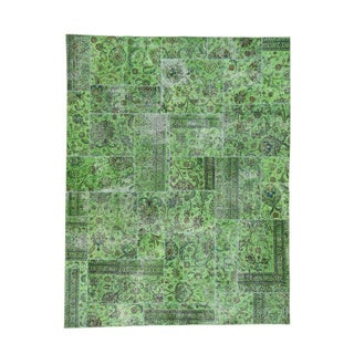 1800GetaRug Green Wool Overdyed Hand-knotted Persian Rug (7'9 x 10')