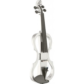 Stagg EVN X-4/4 White Maple Silent Violin Set With Soft Case and Headphones