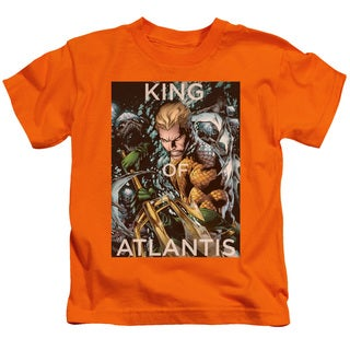 JLA/King Of Atlantis Short Sleeve Juvenile Graphic T-Shirt in Orange