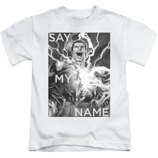 JLA/Say My Name Short Sleeve Juvenile Graphic T-Shirt in White