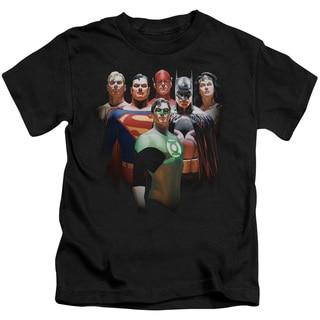 JLA/Roll Call Short Sleeve Juvenile Graphic T-Shirt in Black