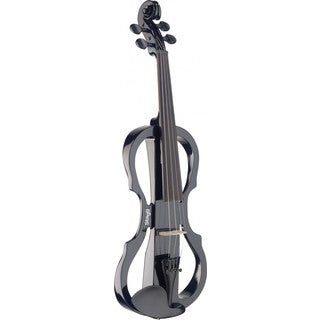 Stagg EVN X-4/4 BK Black Silent Violin Set with Soft Case and Headphones