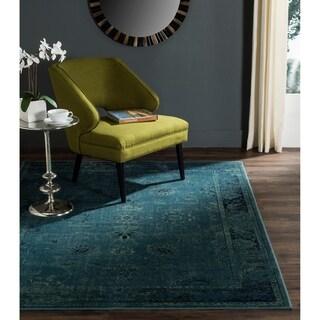 Safavieh Vintage Oriental Turquoise/ Multi Distressed Silky Viscose Rug (5'3 x 7'6)