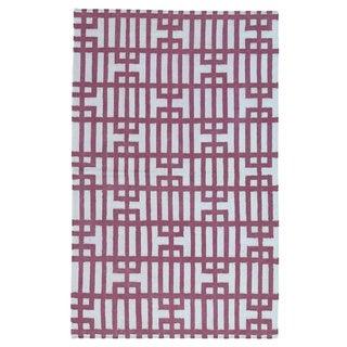 Kilim Hand-woven Reversible Geometric Flatweave Rug (4' x 6'2)