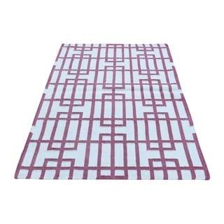 Kilim Geometric Flatweave Hand-woven Reversible Rug (3' x 5'4)