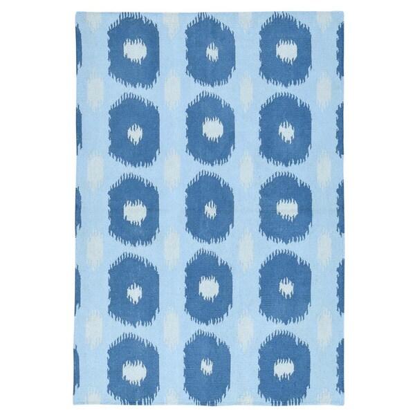 Geometric Design Hand-woven Reversible Kilim Flatweave Wool Rug (4'2x6'1) - 4'2x6'1