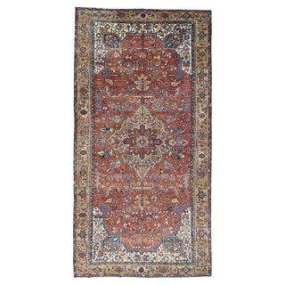 Persian Heriz Red Wool Gallery-size Full Pile Rug (9'6 x18'6)