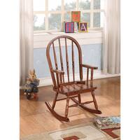 Kloris Tobacco Brown Rubberwood Kids' Rocking Chair