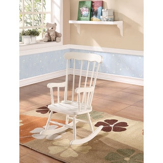 Kloris Youth White Rocking Chair