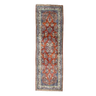 Gallery Size Antique Persian Sarouk Oriental Rug (4'4x13'4)