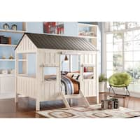 Spring Cottage Cabin Multicolor MDF/Pine/Fabric Full Bed