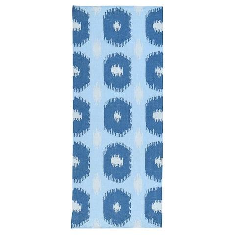 Handmade Geometric Design Reversible Kilim Runner Rug