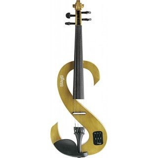 Stagg Yellow Silent Violin Set with Soft Case and Headphones