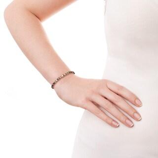 Natural Gemstones Lucky Color Stone .925 Silver Bracelet (Thailand)