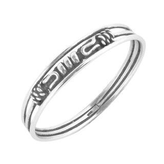 Simple Skinny Balinese Style Sterling Silver Ring (Thailand)