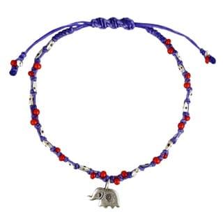 Thai Elephant Karen HillTribe Silver Royal Rope Bracelet (Thailand)