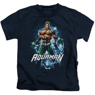 JLA/Water Powers Short Sleeve Juvenile Graphic T-Shirt in Navy