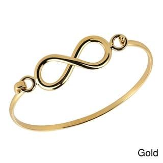 Handmade Eternal Love Infinity Gold Over .925 Silver Bangle Bracelet (Thailand)
