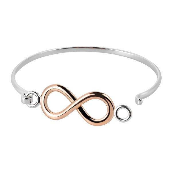 Best Designer Jewelry Sterling Silver Gold-tone Diamond Cut Slip-on Bangle