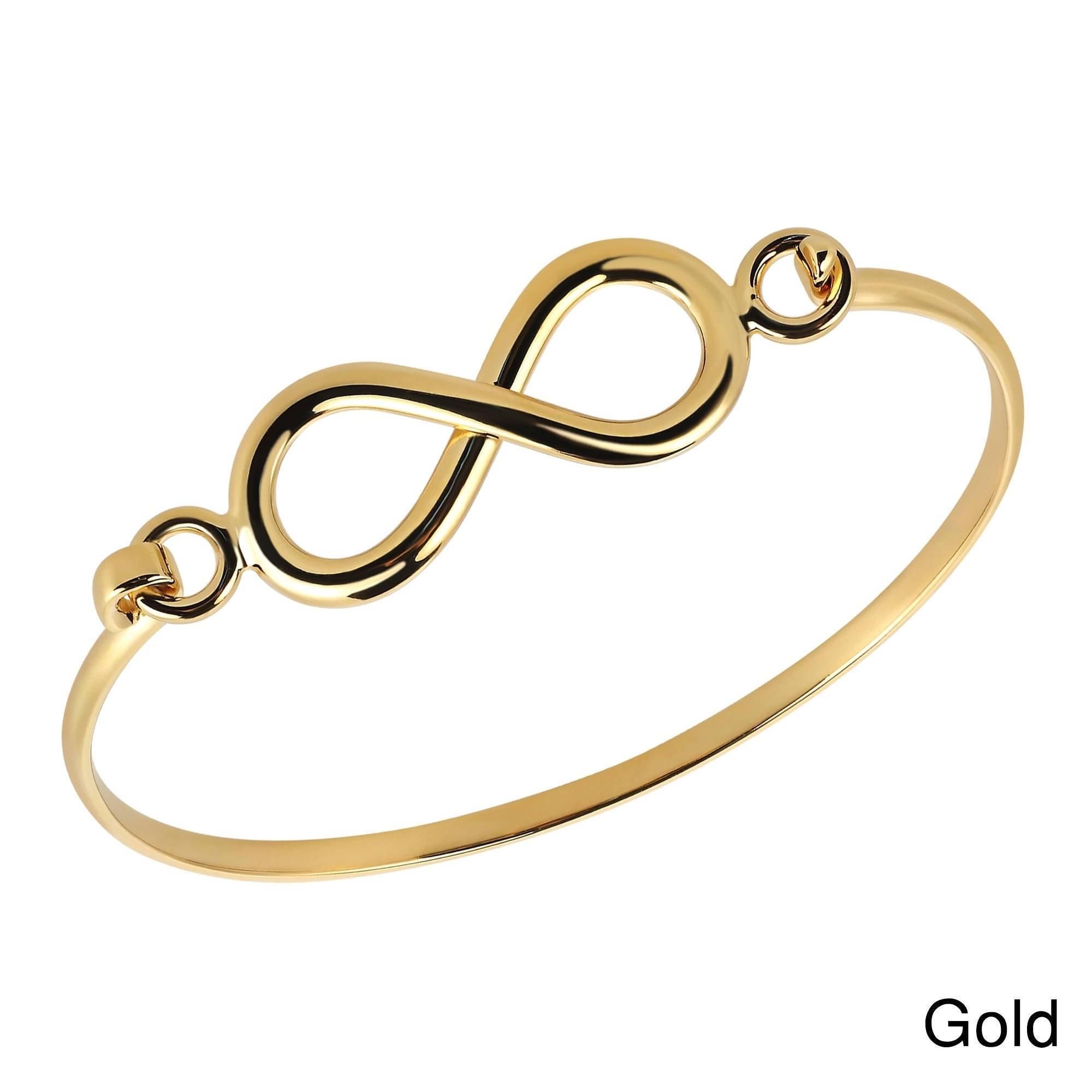 ADJUSTABLE BANGLE BRACELET 14K ROSE GOLD OVER 925 STERLING SILVER