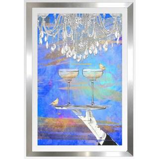 """BY Jodi """"Cheers Blue"""" Framed Plexiglass Wall Art"""