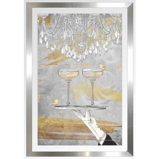 """BY Jodi """"Cheers Gold"""" Framed Plexiglass Wall Art"""