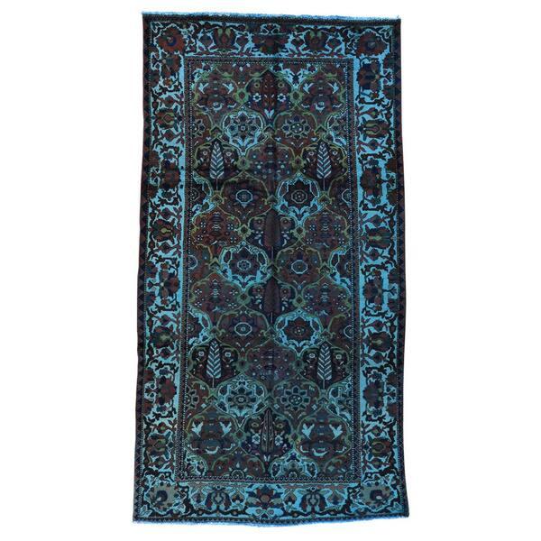 Shahbanu Rugs Persian Overdyed Black Blue Green