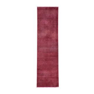Persian Tabriz Oriental Handmade Runner Overdyed Rug (2' x 7'7)