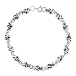 Safari Baby Elephant Parade Link Sterling Silver Bracelet (Thailand)