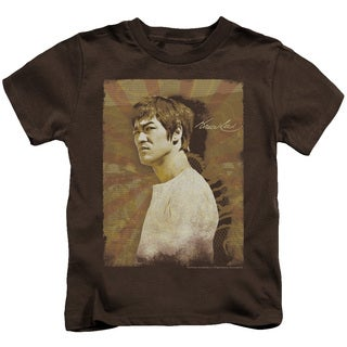 Bruce Lee/Anger Short Sleeve Juvenile Graphic T-Shirt in Coffee