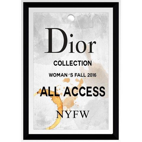 """BY Jodi """"Dior All Access"""" Framed Plexiglass Wall Art"""