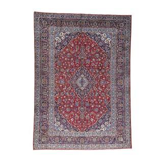 1800GetaRug Hand-knotted Persian Kashan Full-pile Oriental Rug (9'9 x 13'4)