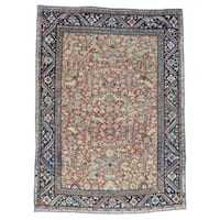 Antique Persian Heriz Oriental All-over Rug (8'7 x 11'8)