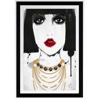 "BY Jodi ""Drape Me In Chanel"" Framed Plexiglass Wall Art"