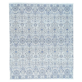 1800GetaRug Agra Ivory Cotton Geometric Oversize Hand-knotted Rug (13' x 15'4)