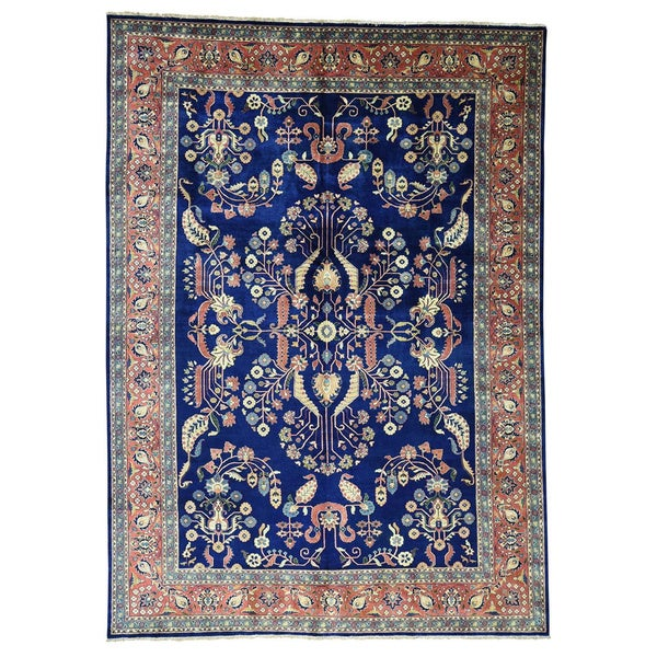 Shop Persian Oriental New Zealand Wool Area Rug: Shop Sarouk Fereghan Multi-colored New Zealand Wool Hand