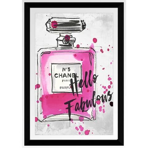 """BY Jodi """"Fabulous """" Framed Plexiglass Wall Art"""