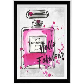 """BY Jodi """"Fabulous Chanel"""" Framed Plexiglass Wall Art"""